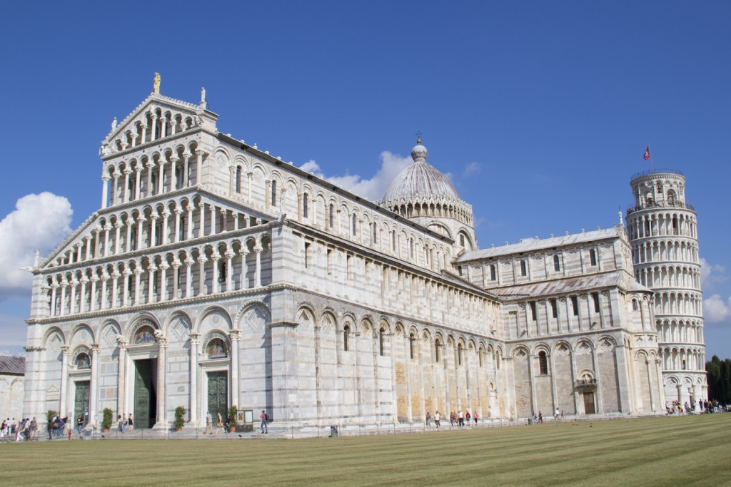 Cathedral and Leaning tower of Pisa, Tuscany in Italy