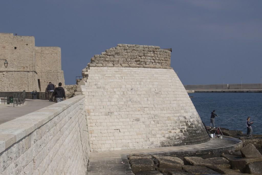 Bastion-of-Santa-Maira-on-the-promenade-along-the-sea-front-of-Monopoli-in-Puglia-Italy