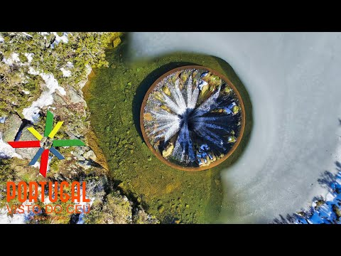 Covão dos Conchos - Amazing Lake with a Waterfall Inside - 4K Ultra HD