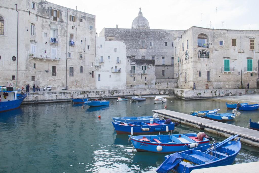 The old port in Monopoli, Puglia in Italy